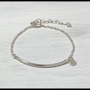 Jewelry - Sterling Silver Tube Bar Bracelet w/ Tag